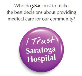 Text & button to trust saratoga hospital