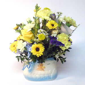 New Baby Boy Flower Arrangement