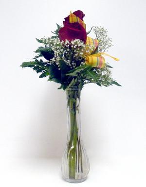 Bud Vase Roses Arrangement