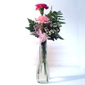Bud Vase Carnation Arrangement