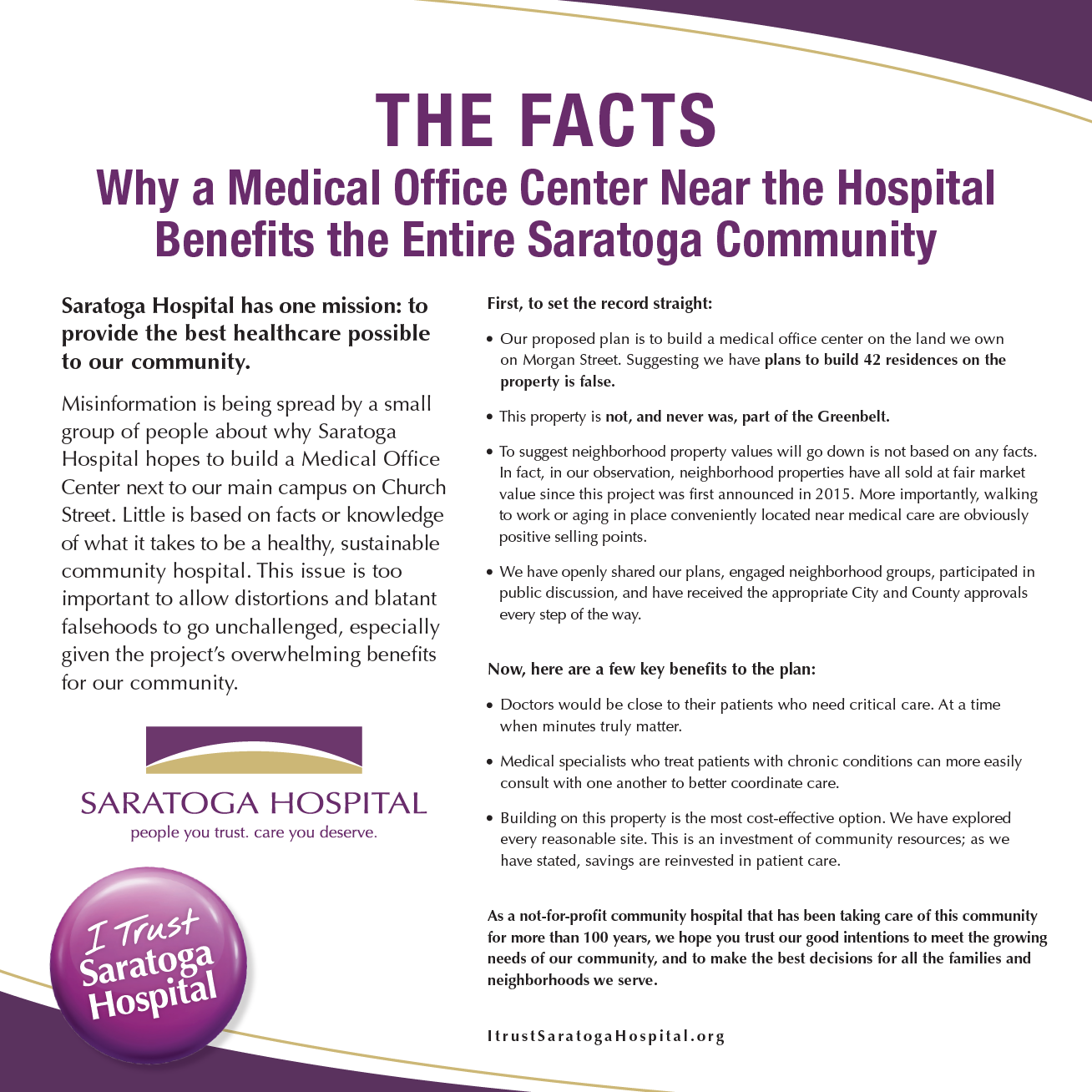 ad about the medical office building
