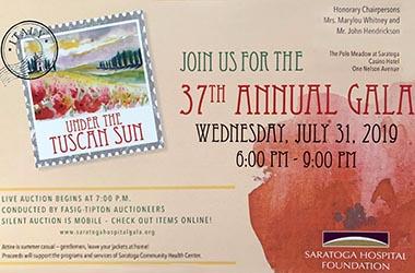 Saratoga Hospital's 37th Annual Gala Set for July 31