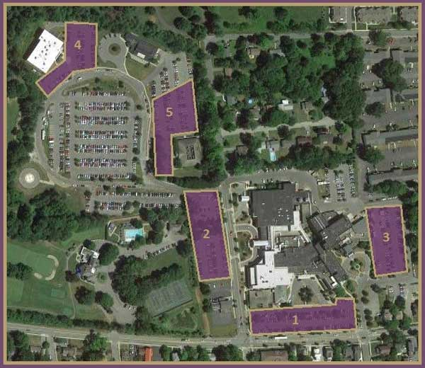 Saratoga Hospital parking locations map
