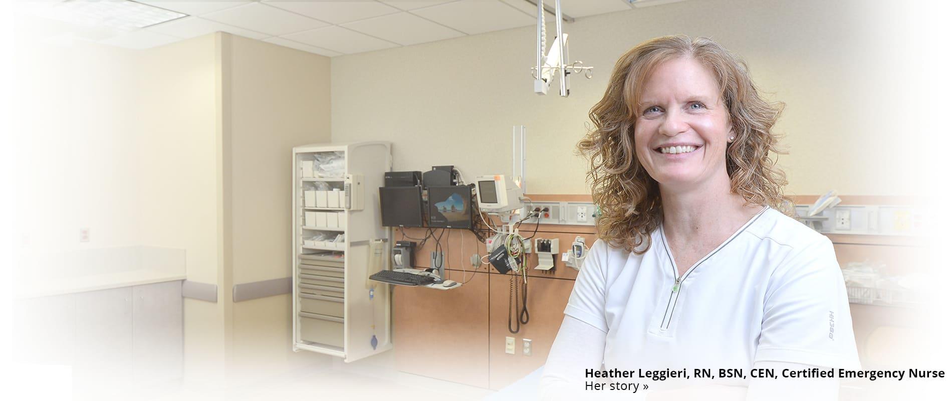 Heather Leggieri in hospital room