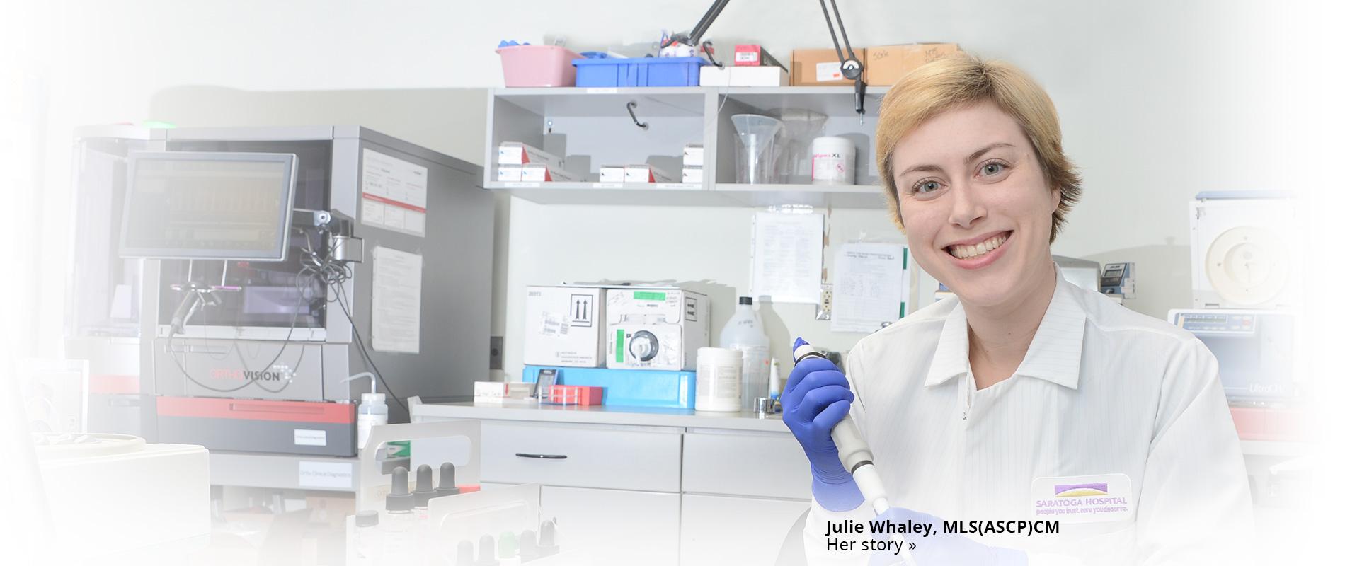 Julie Whaley lab room
