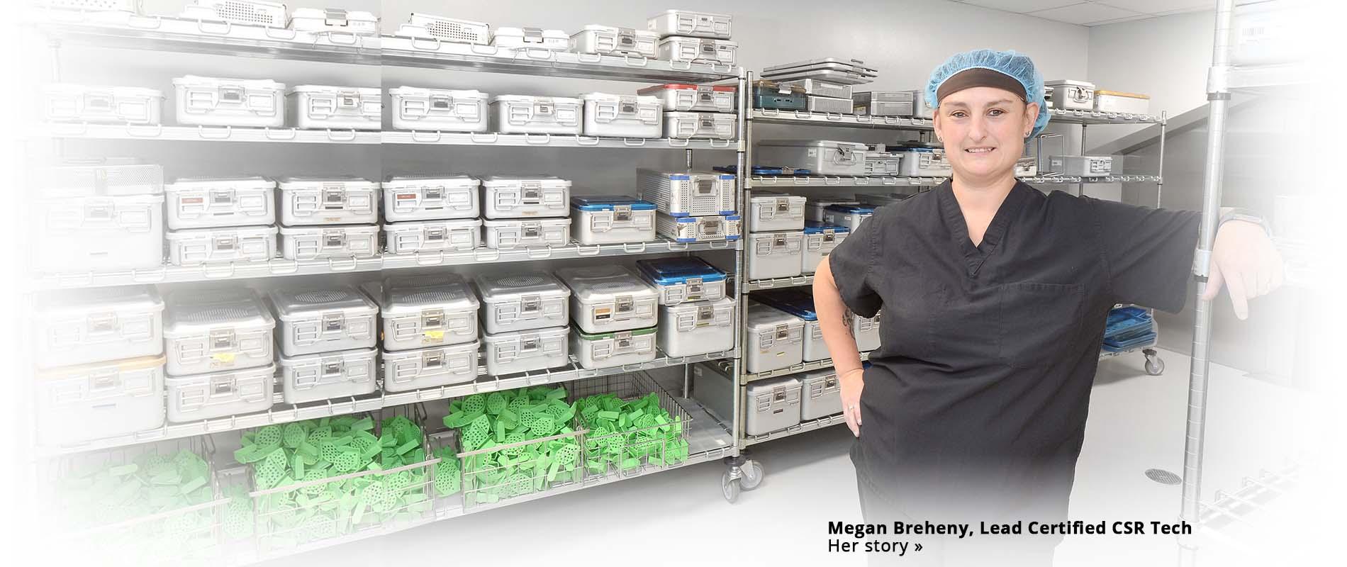Megan Breheny  Sterile Reprocessing room