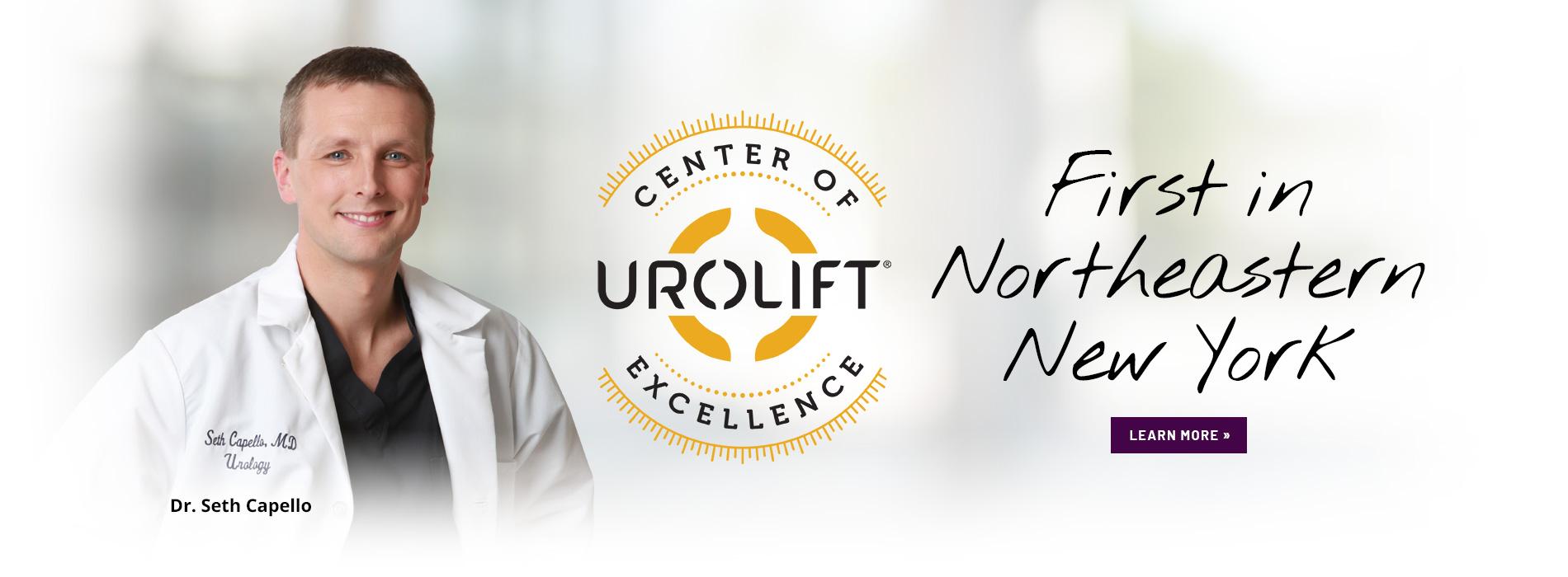 doctor next to urolift logo