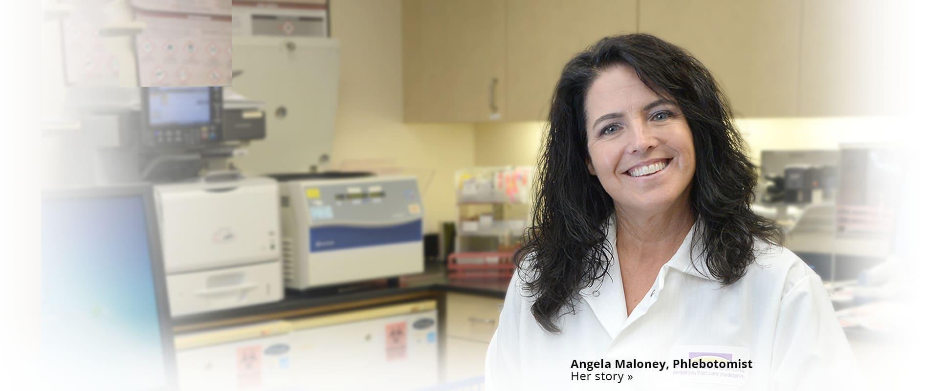 Angel Maloney in Lab