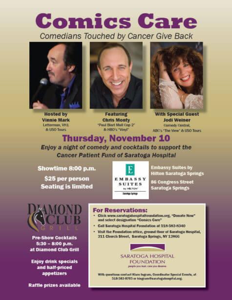 Comics Care - Saratoga Hospital Foundation Event